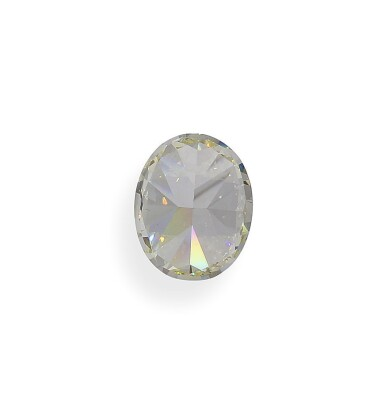 View 5. Thumbnail of Lot 10. A 3.95 Carat Oval-Shaped Diamond, Y-Z Color, VS1 Clarity.
