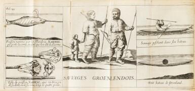 View 1. Thumbnail of Lot 164. LA PEYRÈRE. Relation du Groenland. Paris, Augustin Courbé, 1647. Reliure du XIXe. Edition originale. .