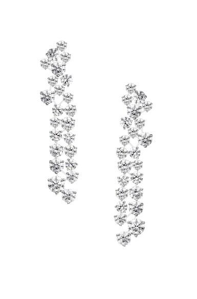 View 1. Thumbnail of Lot 50. GRAFF | PAIR OF DIAMOND 'GALAXY' PENDANT-EARCLIPS  格拉夫 | 鑽石「Galaxy」吊耳環一對.