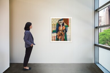 View 4. Thumbnail of Lot 851. GEORGE CONDO | URBAN FIGURE COMPOSITION.