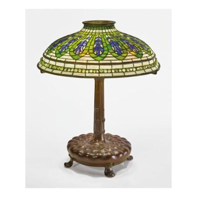 "View 1. Thumbnail of Lot 4. TIFFANY STUDIOS | ""GENTIAN"" TABLE LAMP."