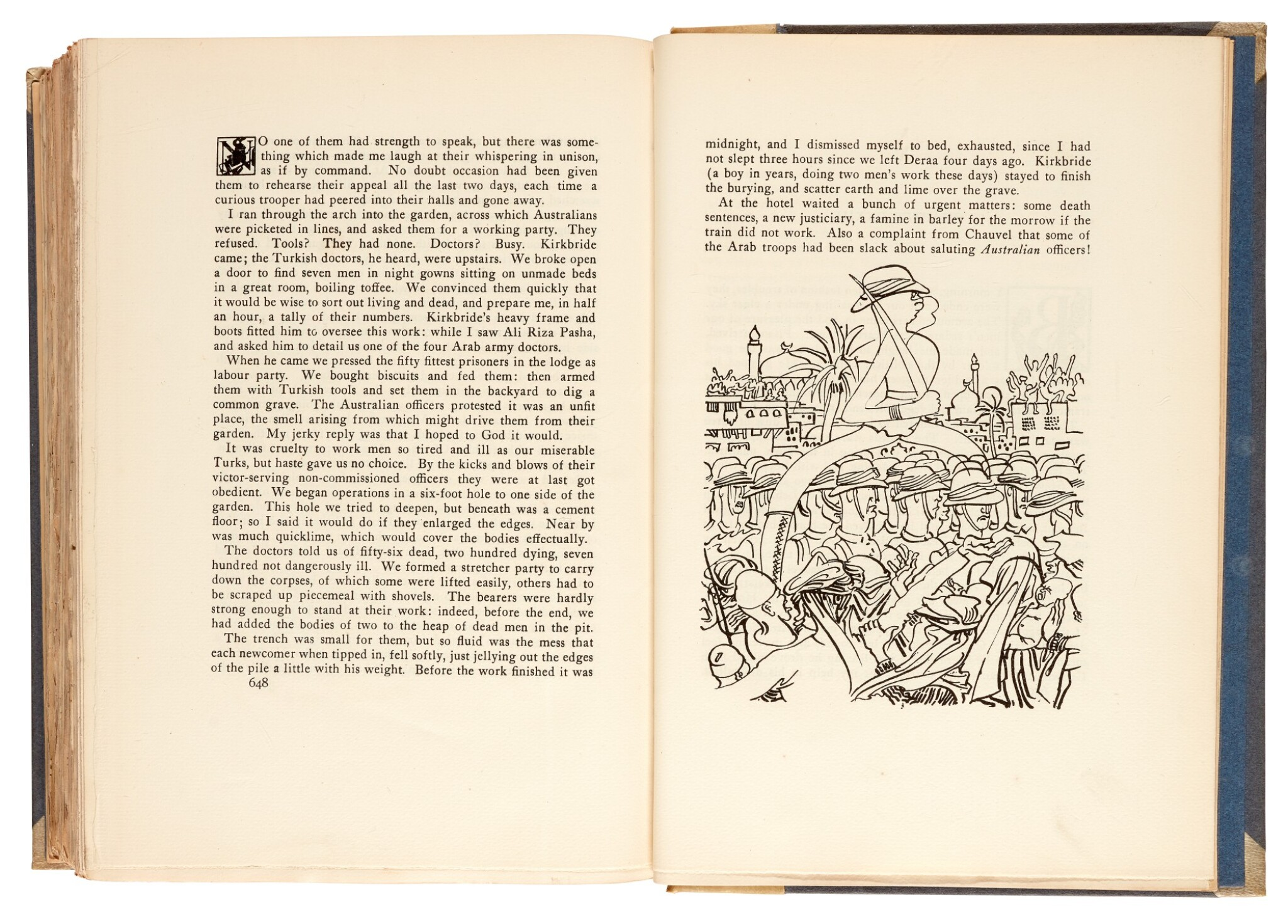 View 1 of Lot 105. LAWRENCE, T.E. | Seven Pillars of Wisdom, 1926, 1st US edition, NO.7 OF 22 COPIES, signed by Doran.