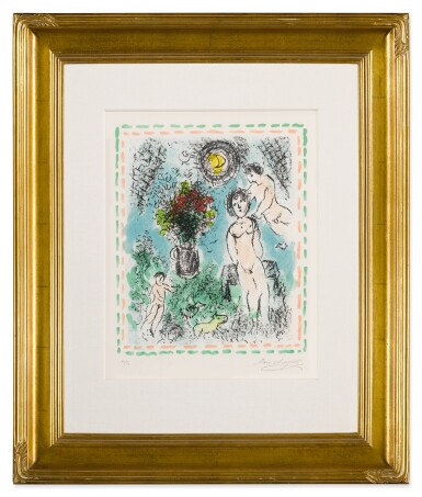 View 7. Thumbnail of Lot 32. Quinze Dernières Lithographies de Marc Chagall: 5 prints (M. 1035, 1036, 1038, 1042 and 1047).