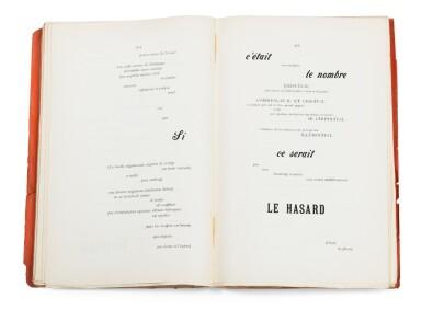 View 1. Thumbnail of Lot 110. Un coup de dés... Cosmopolis, mai 1897. Edition pré-originale du poème. Rare exemplaire broché.
