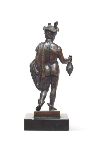 View 6. Thumbnail of Lot 124. A Roman Bronze Figure of Hermes, circa 2nd Century A.D..