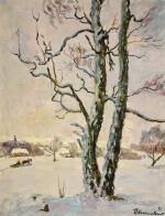 PETR PETROVICH KONCHALOVSKY | WINTER LANDSCAPE. BIRCH TREES