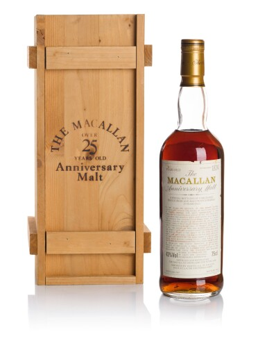 View 1. Thumbnail of Lot 44. THE MACALLAN 25 YEAR OLD ANNIVERSARY MALT 43.0 ABV 1967   .