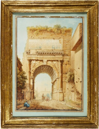 View 2. Thumbnail of Lot 68. View of the Arch of Titus, Rome.