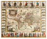 PIETER VAN DEN KEERE | Nova totius terrarum orbis geographica ac hydrographica tabula. Amsterdam: Johannes Janssonius, 1632