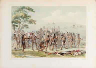 View 4. Thumbnail of Lot 146. CATLIN. North American Indians portfolio. Londres, 1844. 25 planches coloriées à la main. Premier tirage..