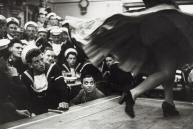 View 1. Thumbnail of Lot 141. BERT HARDY    GIBRALTAR, THE COMBINED FLEETS ASHORE, 1954.