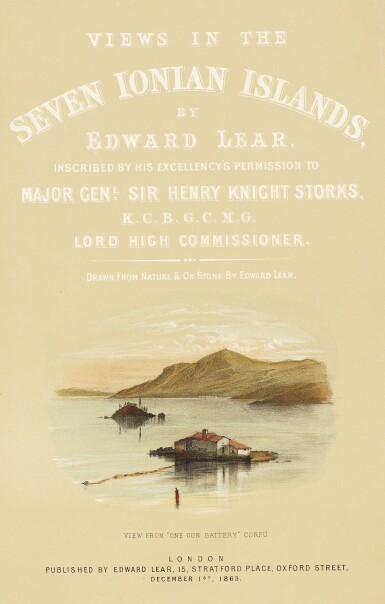 Lear | Views in the Seven Ionian Islands, 1863