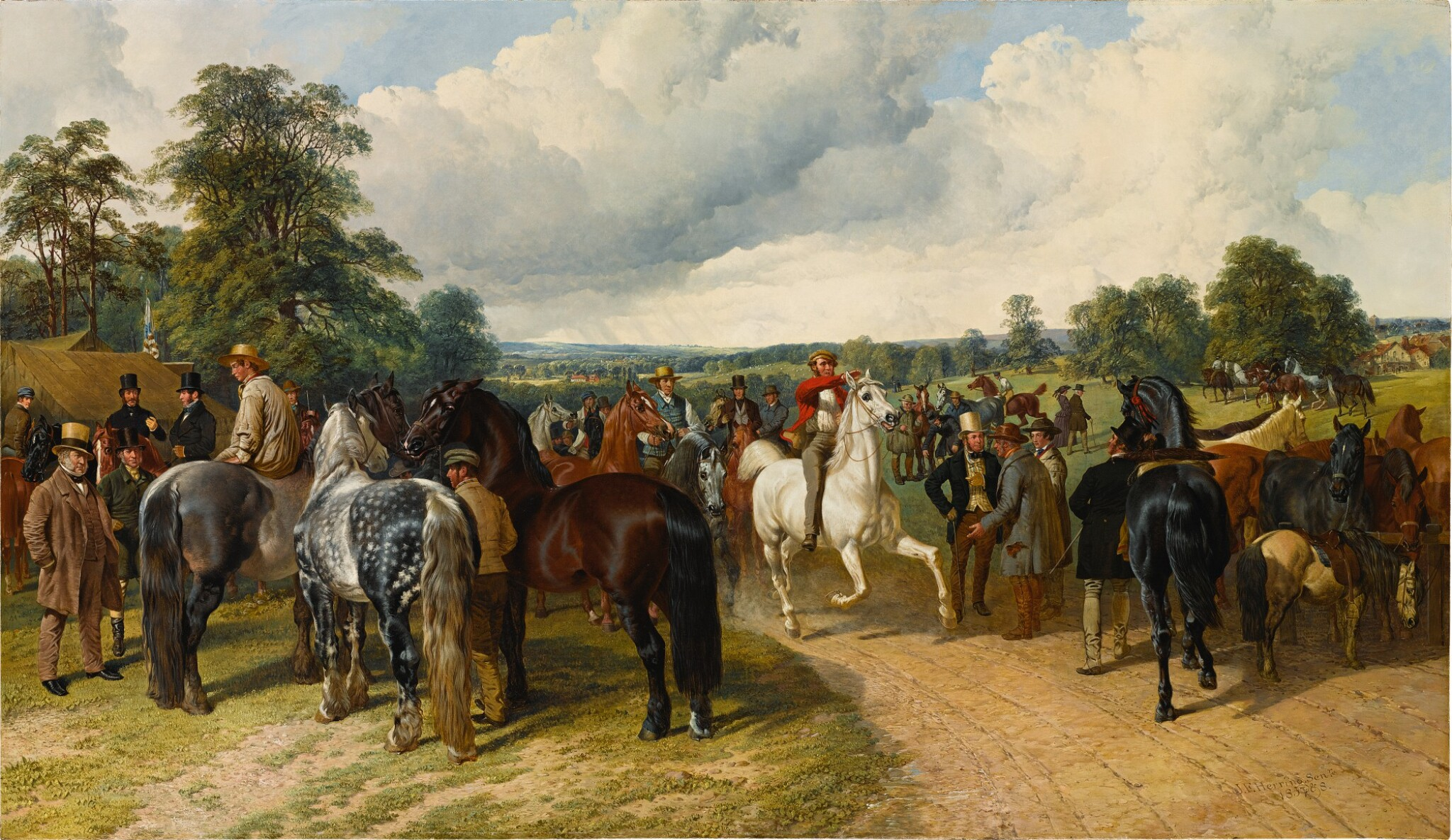 View full screen - View 1 of Lot 678. A Horse Fair on Southborough Common.