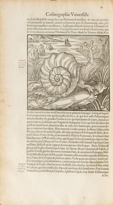 View 2. Thumbnail of Lot 197. THEVET. La Cosmographie universelle... Paris, 1575. 2 vol. in-folio. Reliure de l'époque..