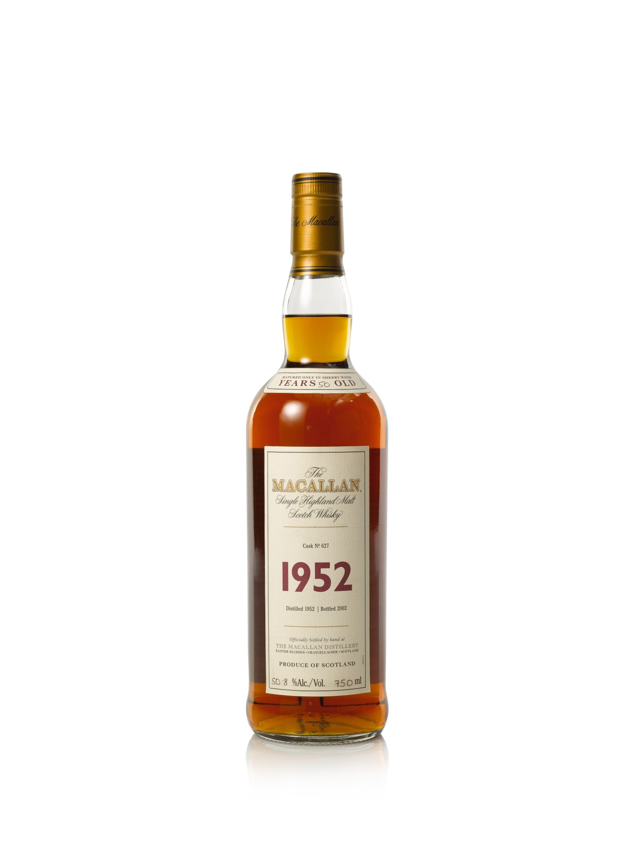 View full screen - View 1 of Lot 36. The Macallan Fine & Rare 50 Year Old 50.8 abv 1952 (1 BT75cl).