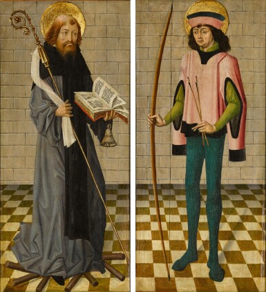 View 1. Thumbnail of Lot 111. Saint Anthony Abbot; Saint Sebastian.