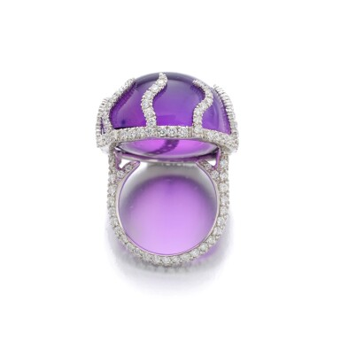 View 3. Thumbnail of Lot 41. MICHELE DELLA VALLE | AMETHYST AND DIAMOND RING.
