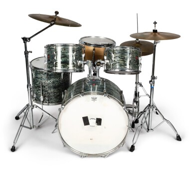 """View 1. Thumbnail of Lot 84. [QUESTLOVE] 60'S ERA 5-PIECE DRUM KIT AS USED LIVE AND IN STUDIO BY AHMIR """"QUESTLOVE"""" THOMPSON."""