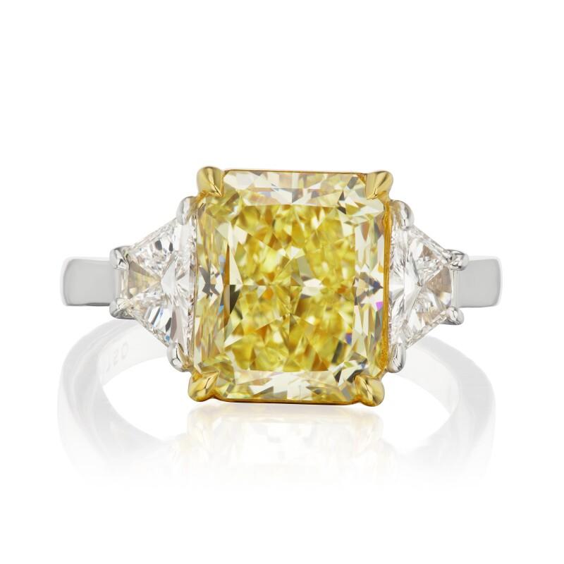 Fancy Yellow Diamond and Diamond Ring