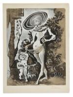 AFTER PABLO PICASSO | VENUS ET L'AMOUR VOLEUR DE MIEL (D'APRES CRANACH L'ANCIEN)