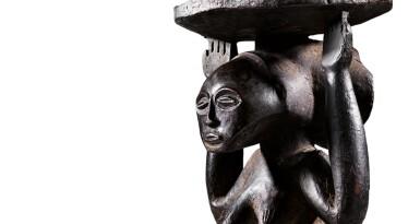 View 6. Thumbnail of Lot 50. Siège caryatide, Hemba / Luba, République Démocratique du Congo | Caryatid stool, Hemba / Luba, Democratic Republic of the Congo.