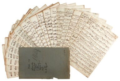 W. A. Mozart. Set of manuscript parts for the Mass in C, K.317 ('Coronation'), probably early C19th