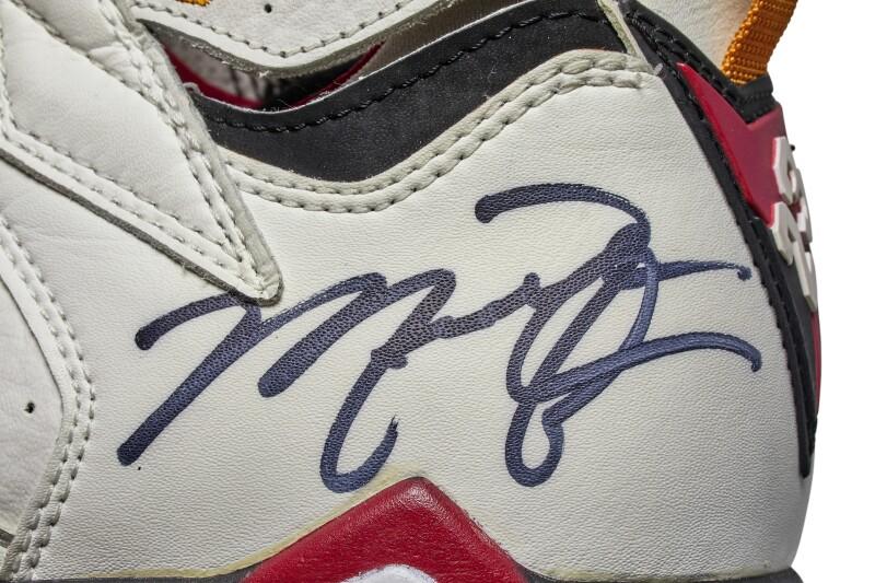 Nike Michael Jordan Game Worn Dual Signed Air Jordan VII