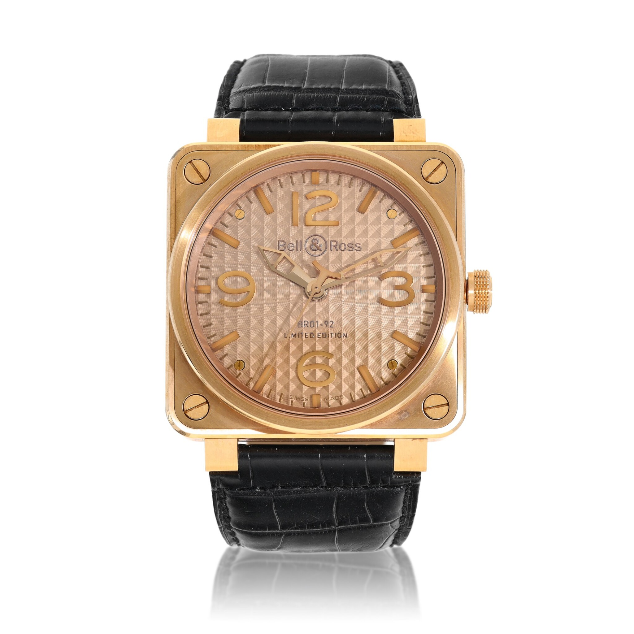 View full screen - View 1 of Lot 9315. Bell & Ross | Gold Ingot, Reference BR01-92-R, A limited edition pink gold wristwatch, Circa 2015 | Gold Ingot 型號BR01-92-R   限量版粉紅金腕錶,約2015年製.