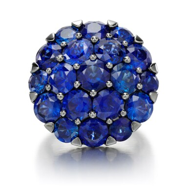 View 2. Thumbnail of Lot 65. GRAFF   SAPPHIRE AND DIAMOND RING.