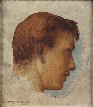 View 1. Thumbnail of Lot 73. Portrait of Jacques Lecomte du Nouÿ (1885-1961), the artist's son.