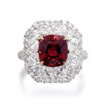 Spinel and diamond ring | 尖晶石配鑽石戒指
