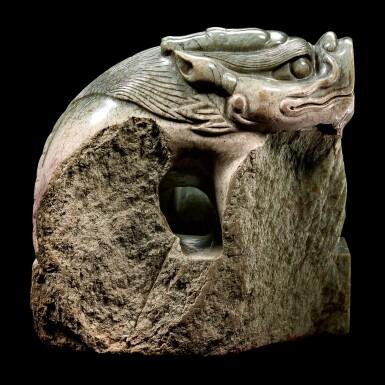 View 2. Thumbnail of Lot 3601. A superb imperial green jade memorial seal of the Yongle Empress Wen Ming dynasty, Hongxi period | 明洪熙 永樂仁孝文皇后青玉龍鈕諡寶 印文:……天齊聖文皇后寶.