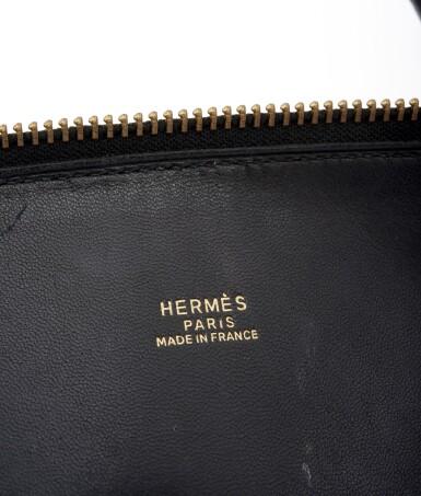 Black leather and yellow hardware handbag, Bolide Mou 35, Hermès, 1966
