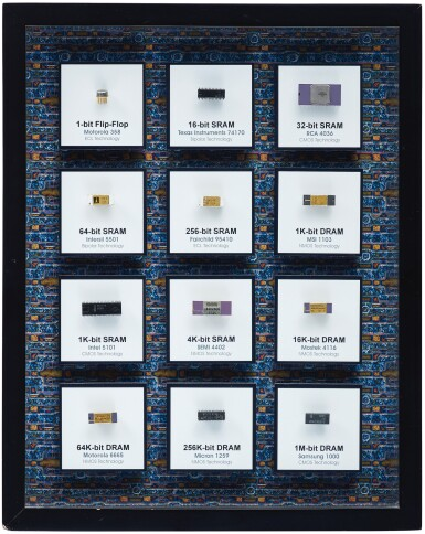 View 6. Thumbnail of Lot 43. A COLLECTION OF FRAMED MICROCHIPS.