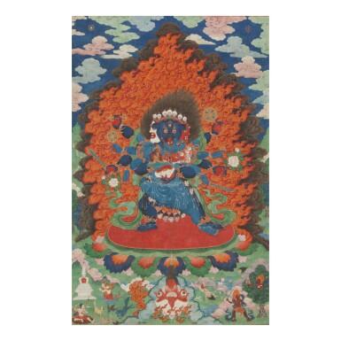 View 1. Thumbnail of Lot 309. THE GODDESS CARCIKĀ AND CONSORT, CHINA, BEIJING, QING DYNASTY (1644-1911),  QIANLONG PERIOD (1735-1796).