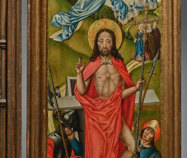 View 6. Thumbnail of Lot 105. Retable with the Lamentation.