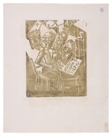 View 12. Thumbnail of Lot 60. Neun Holzschnitte (K. 23-31) (Nine woodcuts (K. 23-31)) .