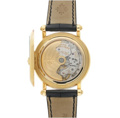 View 4. Thumbnail of Lot 53. PATEK PHILIPPE  |  REFERENCE 5059   A YELLOW GOLD PERPETUAL CALENDAR WRISTWATCH WITH RETROGRADE DATE, CIRCA 2006.