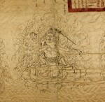 A VERY RARE TIBETAN TRAVEL PERMIT ISSUED BY THE SEVENTH DALAI LAMA,  QING DYNASTY, YONGZHENG PERIOD, DATED EARTH-BIRD YEAR, CORRESPONDING TO 1729