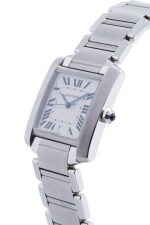 CARTIER   TANK FRANCAISE, REF 2302 STAINLESS STEEL WRISTWATCH WITH DATE AND BRACELET CIRCA 2001