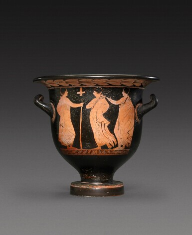 View 2. Thumbnail of Lot 16. An Apulian Red-figured Bell Krater, Attributed to the Tarporley Painter, circa 380-370 B.C..
