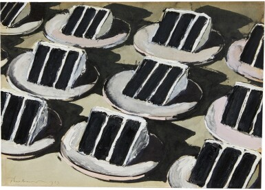 View 1. Thumbnail of Lot 221. WAYNE THIEBAUD | LAYER CAKE ROWS.