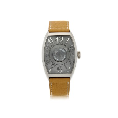 FRANCK MULLER | REFERENCE 6850 DM DOUBLE MYSTERY   A WHITE GOLD AUTOMATIC WRISTWATCH, CIRCA 2005