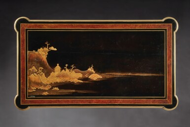 View 6. Thumbnail of Lot 179. A LOUIS XVI GILT BRONZE-MOUNTED EBONY AND JAPANESE LACQUER CENTRE TABLE BY LEVASSEUR, LATE 18TH/EARLY 19TH CENTURY.