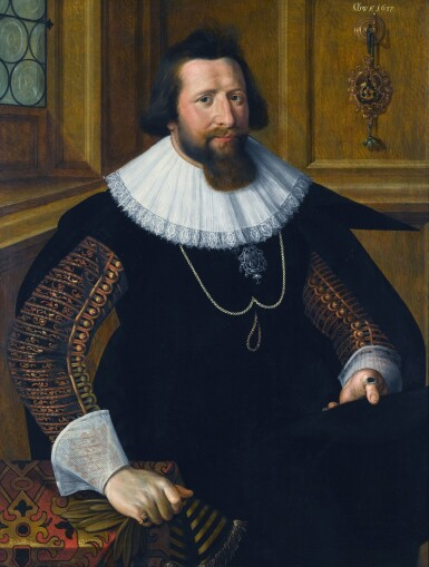 GOTTFRIED VON WEDIG | PORTRAIT OF A GENTLEMAN OF THE BEYWEGH FAMILY, HALF-LENGTH, AS A COUNCILLOR OF COLOGNE