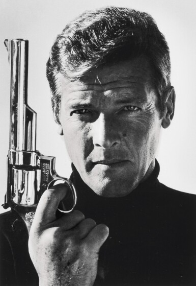 View 1. Thumbnail of Lot 240. TERRY O'NEILL | SIR ROGER MOORE AS JAMES BOND, 1973.