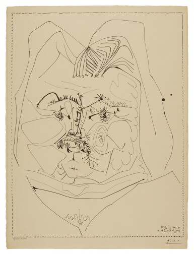 View 1. Thumbnail of Lot 77. PABLO PICASSO | BALZAC (B. 724; M. 226).