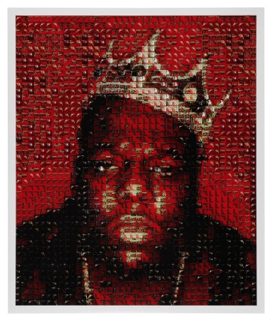 View 4. Thumbnail of Lot 87. [THE NOTORIOUS B.I.G.] BARRON CLAIBORNE | The crown worn by Biggie when photographed as the King of New York, 1997..