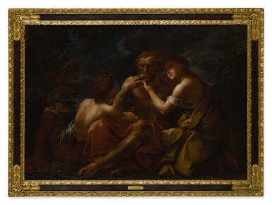 View 5. Thumbnail of Lot 643. Susanna and the Elders; Lot and His Daughters.