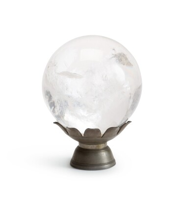 View 1. Thumbnail of Lot 225. A rock crystal sphere.